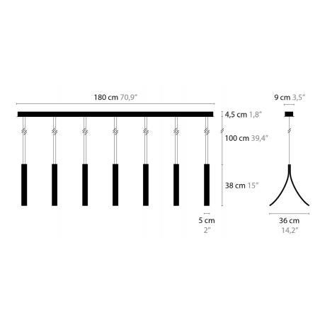 Maten - Hanglamp - Stream H7 XL - Ilfari