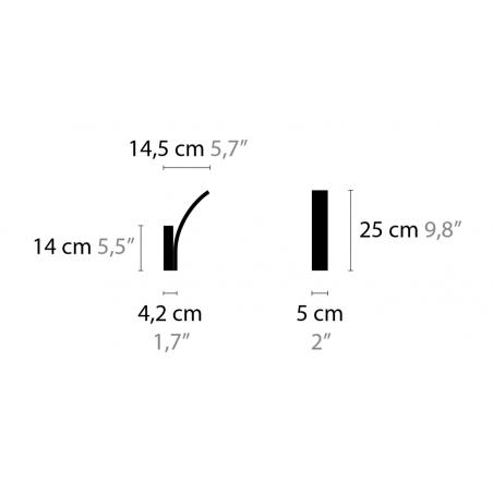 Maten - Wandlamp - Stream W1 - Ilfari