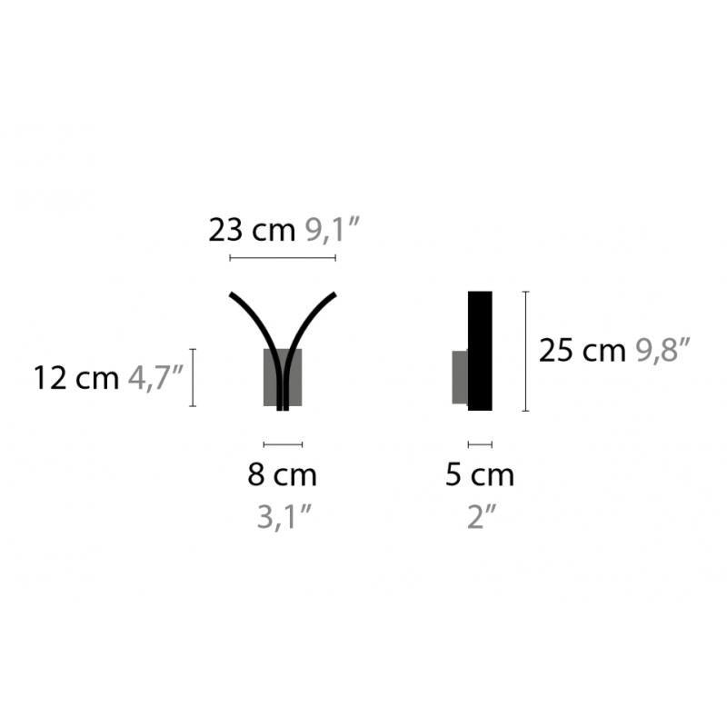 Maten - Wandlamp - Stream W2 - Ilfari