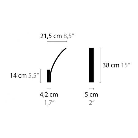 Maten - Wandlamp - Stream W1 XL - Ilfari