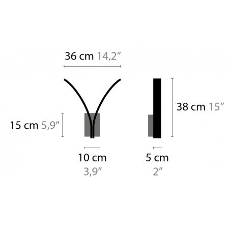Maten - Wandlamp - Stream W2 XL - Ilfari