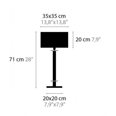 Maten - Tafellamp - Swinging Ballet T1C - Ilfari